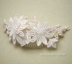 Peine del pelo de novia Ivory de encaje vintage por BeSomethingNew