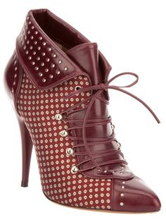 Tabitha Simmons 'Wicked' Studded Brown Lace-Up Ankle Boots Lace Up Ankle Boots, Ankle Booties, Heeled Boots, Bootie Boots, Shoe Boots, Ugg Boots, Shoes Heels, Stilettos, High Heels