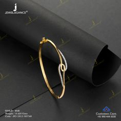 simply charming beauty for your wrists. Gold Ring Designs, Gold Bangles Design, Gold Earrings Designs, Beaded Jewelry Designs, Gold Jewellery Design, Gold Bracelet For Women, Gold Bangle Bracelet, Solid Gold Bangle, Gold Jewelry Simple
