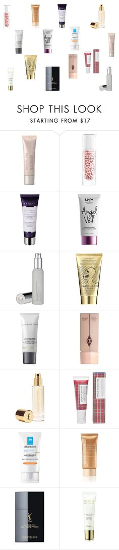"""Current fav primers"" by tyronewelle ❤ liked on Polyvore featuring beauty, Laura Mercier, Guerlain, NYX, Napoleon Perdis, Cover FX, Charlotte Tilbury, Yves Saint Laurent, too cool for school and La Roche-Posay"