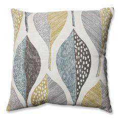 Pillow Perfect Woodblock Leaf Rain Throw Pillow - Decorative Pillows at Hayneedle Modern Throw Pillows, Accent Pillows, Decorative Throw Pillows, Throw Blankets, Buy Pillows, Floor Pillows, Toss Pillows, Pillow Reviews, Cushion Pads