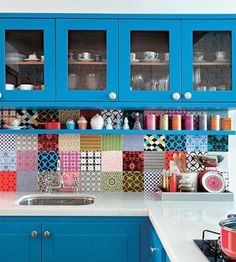 home decorating with modern tiles in various patterns and colors