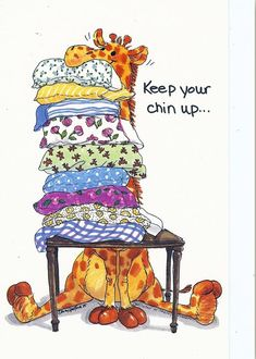 Feel better soon! Suzy Zoo by Suzy Spofford Giraffe Pictures, Cute Pictures, Keep Your Chin Up, Giraffe Art, Get Well Cards, Suzy, Painted Rocks, Cute Art, Cute Animals