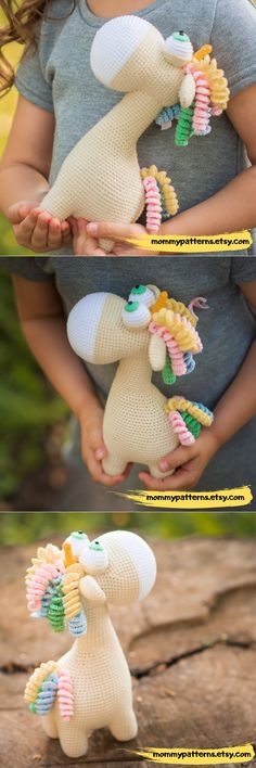 This crochet pattern contains a detailed description of how to create Unicorn, with a great amount of step-by-step photos and a list of necessary materials. Knit And Crochet Now, Cute Crochet, Crochet For Kids, Crochet Animal Patterns, Crochet Patterns Amigurumi, Crochet Animals, Crochet Patterns For Beginners, Knitting Patterns Free, Toy Unicorn