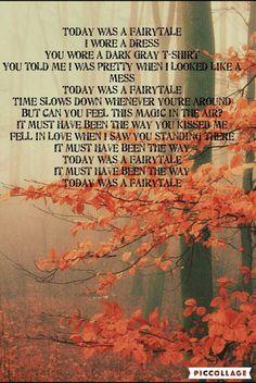 Today was a fairytale lyrics by Francis Plotke