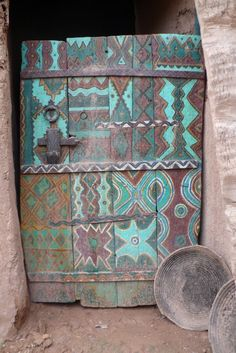 Door of tighmert museum Morocco