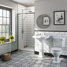 Traditional bathroom designs The Bath Co. Winchester Pivot Shower Door Suite With Taps And Shower Sy Traditional Bathroom Suites, Traditional Toilets, Shower Suites, Bathroom Collections, Old London, Shower Enclosure, Bathroom Interior Design, Bathroom Designs, Bathroom Ideas