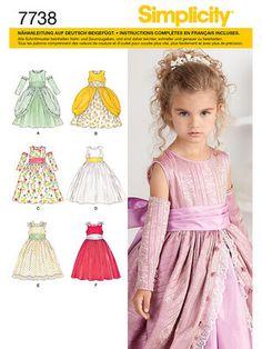 Schnittmuster: Mädchenkleid - A (104-112-119-127-132) - Kleider - Mädchen - Kinder - burda style