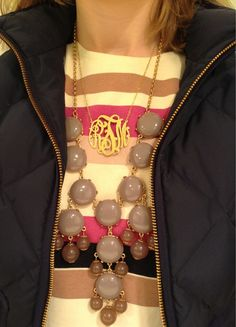 Monogram and Bubble Necklace Available at Jules Etc. Boutique. Friend us on Facebook:  etcboutique Asheboro to see more options and purchase.