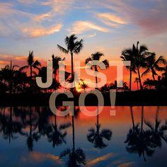 Just Go! Put on your flip flops and go for an adventure, come visit Puerto Vallarta! #Travel #Quotes #Sunset #Beach #PuertoVallarta #LovePV  Original Image: Dan Goldberger / 500px.