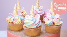 Cute Unicorn Cupcakes with Magic Horns and Ears! | Cupcake Jemma - YouTube