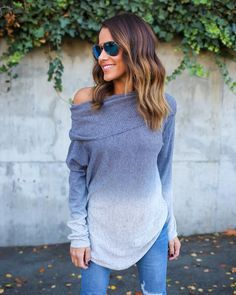 Keep It Cool Ombre Sweater