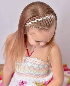 Childrens Hairstyles, Cute Hairstyles For Kids, Kids Hairstyle, Toddler Hairstyles, Fishtail Hairstyles, Girl Hairstyles, Fashion Hairstyles, Waterfall Hairstyle, Amber Hair