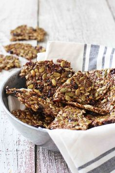 Dried Cherry and Pepita Seed Brittle - Easy and Healthy Gluten Free Snack