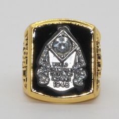 1948 Cleveland Indians World Championship Ring Gift Fans Size US 11 Wooden Box Championship Rings, World Championship, Basketball Rim, Basketball Shoes, World Series Rings, Youth Baseball Gloves, Cleveland Indians Baseball, Gyms Near Me, Better Baseball