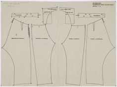 Patroontekening van een klepbroek, gedragen door een boer. Schaal 1:4. 1948 #NoordHolland #Huizen