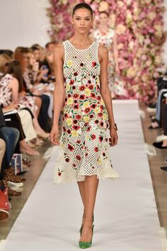 Oscar de la Renta embroidery on #crochet #fashion
