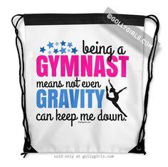 Golly Girls: Being A Gymnast Drawstring Bag only at gollygirls.com