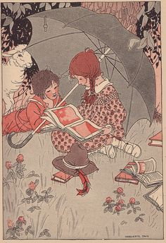 Down in the clover illustrated by M. Davis by katinthecupboard, via Flickr