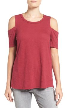 Pleione Cold Shoulder Short Sleeve Tee available at #Nordstrom
