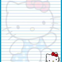Printable Hello Kitty Lined Paper     this website is great to grab templates off to use as a faster easier starting point in photoshop, to recreate your own designs. Not to mention its a great site for people who do not have access to photoshop and just want a ready made template... loads of designs to choose from.