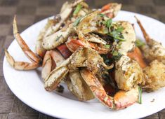 It's the start of crab season! At $3.99 per lb, all I can say is nom, nom,  nom.  Salt & Pepper Crab (Cua Rang Muoi)  Salt & Pepper Crab (Cua Rang Muoi) RecipeIngredients     * 3 whole crabs; scrub clean then cut into small pieces     * 1 cup tapioca starch or all-purpose flour     * 1 bunch of green onions (about 7 sprigs); cut into small segments at       a diagonal      * 6 garlic cloves; minced     * 1 jalapeno; sliced thin at a diagonal     * 1/2 teaspoon salt     * 1/2 teaspoon pepper…