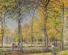 The Bois De Boulogne - Alfred Sisley