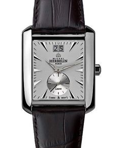Attracting admiring looks with this Michel Herbelin model 18268 discounted from € for Art Deco curved watch with big date and fine details. Watch Brands, Art Deco, Watches, Detail, Big, Model, Accessories, Fashion, Moda