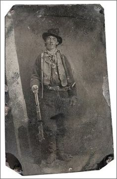 The only surviving authenticated photo of Billy the Kid.