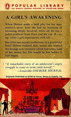 Popular Library paperback back cover Illustrated by Mitchell Hooks March 1956