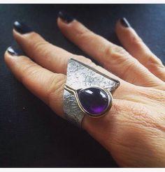 "Handmade ring "" Purple Eye "" by AdorableGR on Etsy"