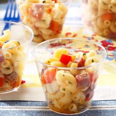 Salami & Provolone Pasta Salad Recipe - Add a few tomatoes, red or sweet onion, and change the red bell peppers to green. May also change the salami to pepperoni & the provolone to shredded mozzarella. Macaroni Salad, Pasta Salad Recipes, Side Recipes, Summer Salads, How To Cook Pasta, Soup And Salad, The Fresh, Pasta Dishes, Salad
