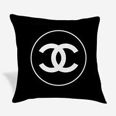 Throw Pillow Covers, Pillow Cases, Throw Pillows, Chanel Logo, Amazon, Black, Toss Pillows, Amazons, Cushions