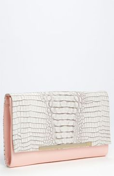 DvF Adele Croc Embossed Clutch