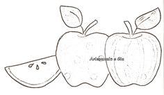 moldes de frutas para patchwork aplique 4
