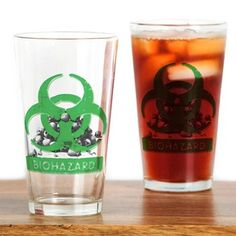 BioHazard Sign and Skulls Drinking Glass> Cups Mugs Glasses> Future Imaging Designs Custom Pint Glasses, Personalized Beer Glasses, Different Types Of Beer, Unique Gifts For Him, Drinking Glass, Glass Design, Boyfriend Gifts, Shot Glass, Mugs