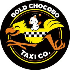 Gold Chocobo Taxi Co (a Final Fantasy inspired design) by Kari Fry