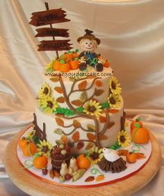 Strange 15 Best Fall Cake Images Fall Cakes Cake Cupcake Cakes Funny Birthday Cards Online Alyptdamsfinfo