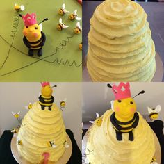 Chocolate lemon Bumble beehive cake