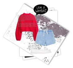 """""""I AM A WOMBAT"""" by faayker ❤ liked on Polyvore featuring GALA, STELLA McCARTNEY, H&M, New Look and Umbra"""
