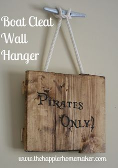Hang art with a nautical boat cleat