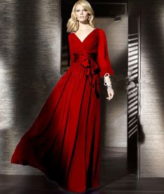 Floor-Length Solid Full Lantern Sleeve Chiffon Long Dress Women Plus Size A-line Pleated Vintage Maxi Wedding Autumn Dresses * Find out more about the great product at the image link. Fall Dresses, Sexy Dresses, Evening Dresses, Casual Dresses, Wedding Dress Prices, Maxi Dress Wedding, Plus Size Dresses Uk, Red And Blue Dress, Chiffon Dress Long