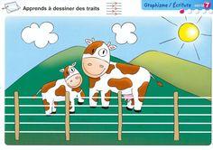 Schrijfpatroon koe, Mes Kits Maternelle - bibli.ecole - Picasa Webalbums