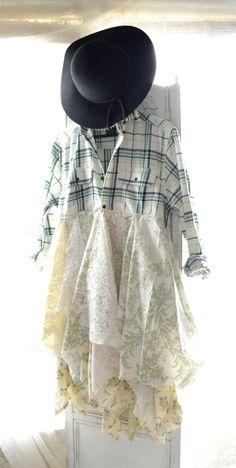 fall jacket bohemian duster boho fall dress by TrueRebelClothing