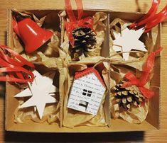 """21 aprecieri, 0 comentarii - @corina.marina.ceramics pe Instagram: """"#decoratiuni #Crăciun #ceramica #handmade #clopotel #casuta #stele #conuri #cadourideCrăciun…"""" Stele, Gift Wrapping, Gifts, Instagram, Gift Wrapping Paper, Presents, Wrapping Gifts, Favors, Gift Packaging"""