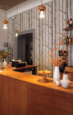Sing Blackbird | Berlin - love the birch tree wall paper
