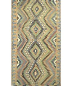 "Turkish Kilim Rug-model-k-085 K-085-Design# 351, Size- 5'-10"" X 10'-0"" #livingroom #diy #handmade #best #cleaning #modern #design #runner #print #carpet #rugs #flooring #office #home #decoration #bedroom"
