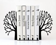 Bookends  Spring  FREE SHIPPING laser cut by DesignAtelierArticle