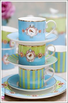 Pip Studio tea cups what is pip studio i like the aesthetic, i have a better set from liberty london will find out the brand its french, sort of morbidly grand china but this is cute