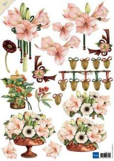 Mb0115 Roze amaryllis - Mattie de Bruine A4 - Knipvellen - Hobbynu.nl
